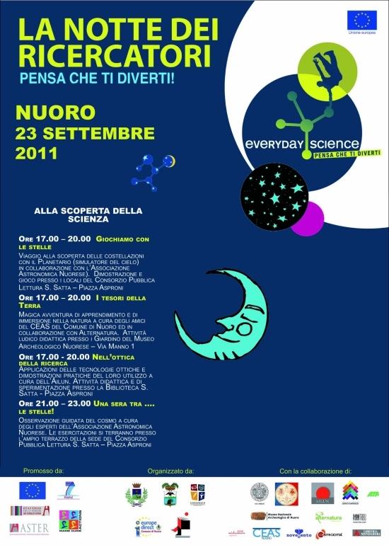Locandina - La notte dei ricercatori 23-09-2011