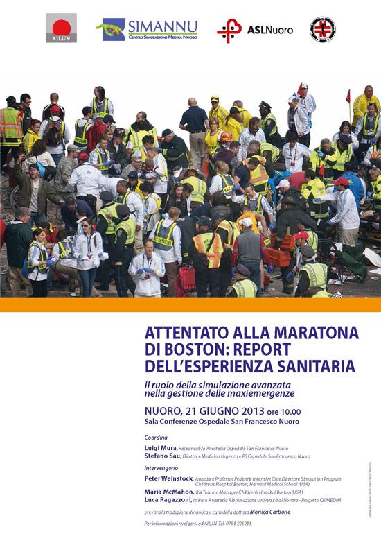 Conferenza – Attentato Alla Maratona Di Boston: Report Dell'esperienza Sanitaria