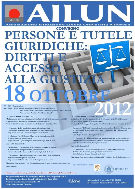 Convegno – Persone E Tutele Giuridiche – Ott 2012
