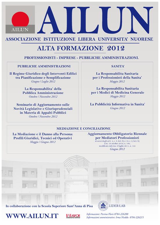 Calendario eventi formativi 2012