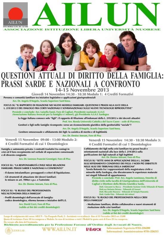 Diritto Della Famiglia – Nov 2013