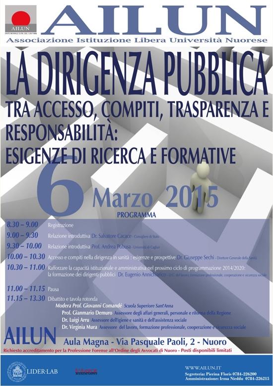 Seminario Dirigenza Pubblica – Mar 2015