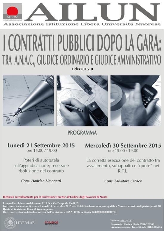 I Contratti Pubblici Dopo La Gara Set-2015