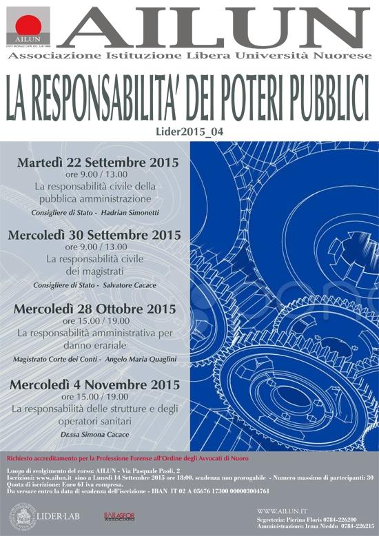 La Responsabilità Dei Poteri Pubblici Set-ott-nov 2015