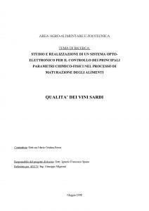 """Relazione finale del progetto """"Qualità dei vini sardi"""""""