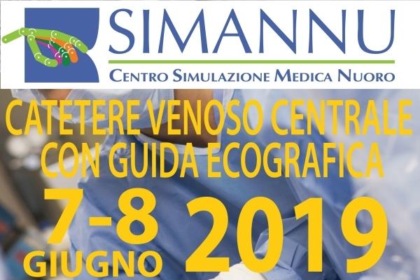 Catetere Venoso Centrale con guida ecografica 7-8 giugno 2019