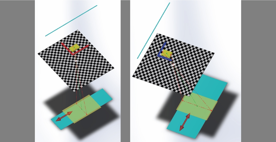 A sinistra, fig. 1a) Specchio stretto – asse orizzontale. A destra, fig. 1b) specchio largo – asse verticale. (Immagini: AILUN)