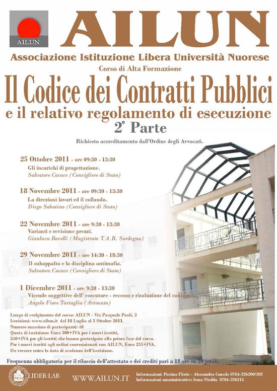 Il Codice dei Contratti Pubblici 2^parte